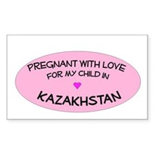 Kazakhstan Adoption Rectangle Decal