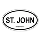 St. John Oval Decal