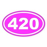 420 Pink Euro Oval Decal