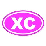 XC Cross Country Pink Euro Oval Decal