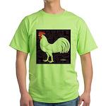 Leghorn Rooster Green T-Shirt