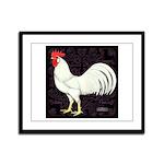 Leghorn Rooster Framed Panel Print