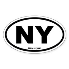 NY New York Euro Oval Decal