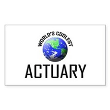 World's Coolest ACTUARY Rectangle Decal