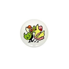 Dancing Chickens Mini Button (10 pack)