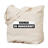 SONIA is innocent Tote Bag