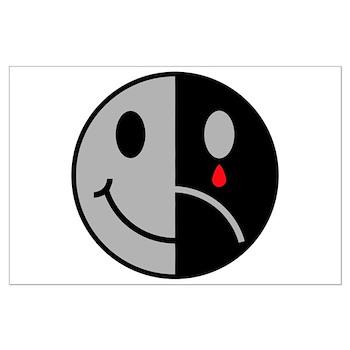 Happy face sad face large poster gt happy face sad face