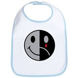 Happy Face Sad Face Bib