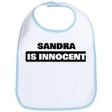SANDRA is innocent Bib