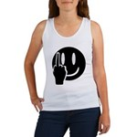 Smilie Face Finger Women's Tank Top