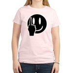 Smilie Face Finger Women's Light T-Shirt