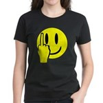 Smilie Face Finger Women's Dark T-Shirt