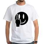 Smilie Face Finger White T-Shirt