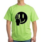 Smilie Face Finger Green T-Shirt