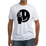 Smilie Face Finger Fitted T-Shirt