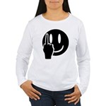 Smilie Face Finger Women's Long Sleeve T-Shirt