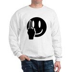 Smilie Face Finger Sweatshirt