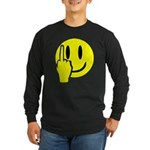 Smilie Face Finger Long Sleeve Dark T-Shirt