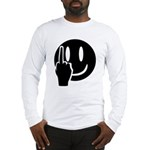 Smilie Face Finger Long Sleeve T-Shirt