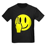 Smilie Face Finger Kids Dark T-Shirt