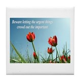 Funny Honor, courage Tile Coaster