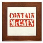 CONTAIN MCCAIN Framed Tile