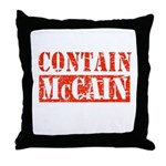 CONTAIN MCCAIN Throw Pillow