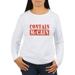 CONTAIN MCCAIN Women's Long Sleeve T-Shirt