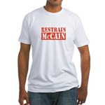 RESTRAIN MCCAIN Fitted T-Shirt