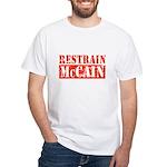 RESTRAIN MCCAIN White T-Shirt