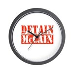 DETAIN MCCAIN Wall Clock