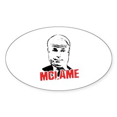 McLame Oval Sticker