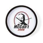 McCan't 2008 Wall Clock