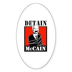 DETAIN MCCAIN Oval Sticker