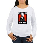 DETAIN MCCAIN Women's Long Sleeve T-Shirt