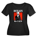 DETAIN MCCAIN Women's Plus Size Scoop Neck Dark T-
