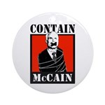 Contain McCain Ornament (Round)
