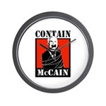 Contain McCain Wall Clock