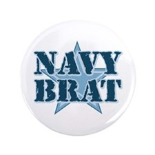 "Navy Brat 3.5"" Button"
