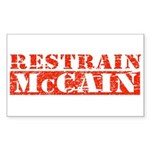 RESTRAIN MCCAIN Rectangle Sticker