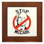 STOP MCCAIN Framed Tile