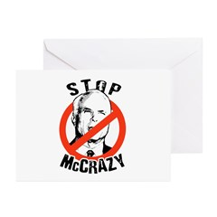 Anti-McCain: Stop McCrazy Greeting Cards (Pk of 20
