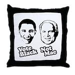 Vote Black. Not Mac. Throw Pillow