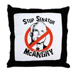 Anti-McCain: Stop Senator McAngry Throw Pillow