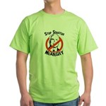 Anti-McCain: Stop Senator McAngry Green T-Shirt