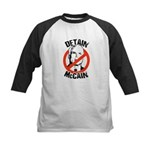 Anti-McCain: Detain McCain Kids Baseball Jersey