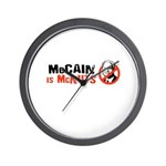 McCain is McNuts Wall Clock