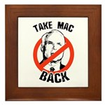 Anti-McCain: Take Mac Back Framed Tile