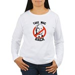 Anti-McCain: Take Mac Back Women's Long Sleeve T-S