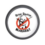 Retire Senator McAncient Wall Clock